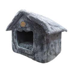 Maison de transport Daily pour chat,petit chien : Gris L45xl39xH44cm