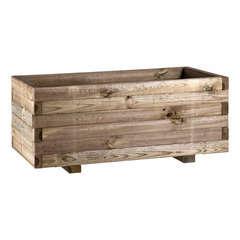 Jardinière en bois 82x34x25 cm
