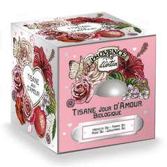 Tisane Jour D'Amour Bio 60gr, dans cube métal de 24 sachets