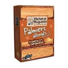 Palmiers allongés pur beurre, au sucre (120g)