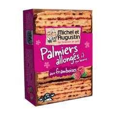 Palmiers allongés pur beurre, framboise (120g)