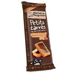 Petits carrés 'pas tout à fait carrés', caramel/sel/choco lait (73g)