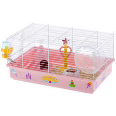 Cage Criceti 9 princess pour hamster : L46cxl29,5xH23 m