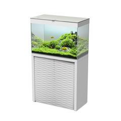 Aquarium avec meuble Emotions Nature One 80 en bois blanc - 152 litres