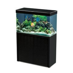 Aquarium avec meuble Emotions Nature One 100 en bois noir - 209 litres