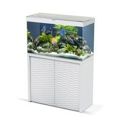 Aquarium avec meuble Emotions Nature One 100 en bois blanc 209 litres
