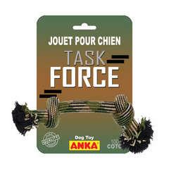 Corde 2 nœuds Task force pour chien : medium L33 cm