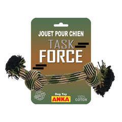 Corde 2 nœuds Task force pour chien : large L47 cm