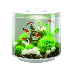 Aquarium Biorb Tube, blanc - 15 litres