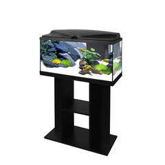 Aquarium avec meuble 80 en bois noir - 74 litres