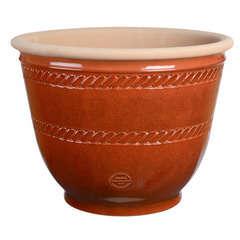 Pot Campana en terre cuite émaillée, rouge Ø 40 x H. 35 cm