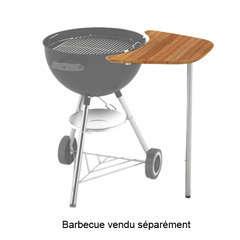 Plan de travail Weber en bambou pour barbecues charbon 47 et 57 cm