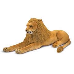 Peluche géante Lion couché : longeur 1m80