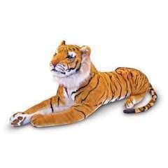 Peluche géante Tigre du Bengale couché : longeur 1m80