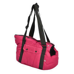 Sac moelleux corbeille pour chien : taille S framboise