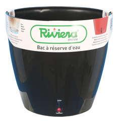 Pot Eva New en polypropylène, noir Ø 35 cm