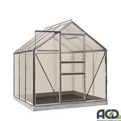 Serre Own Grow Daisy (vitre polycarbonate), couleur alu (LDD) - 3,8m²