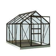 Serre Own Grow Ivy (vitre polycarbonate), noir (LDD) - 5,0m²