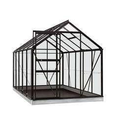 Serre Own Grow Lily (vitre polycarbonate), noir (LDD) - 6,2m²
