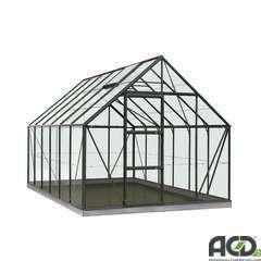 Serre Own Grow Oliver (vitre polycarbonate), vert (LDD) - 9,9m²