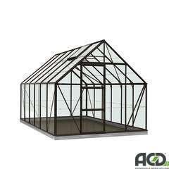 Serre Own Grow Oliver (vitre polycarbonate), noir (LDD) - 9,9m²