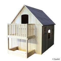 Maisonnette pour enfant  en bois DUPLEX L 210 x l 305 x H 250.0 cm