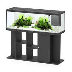 Aquarium avec meuble eau douce Style LED en bois noir - 296 litres