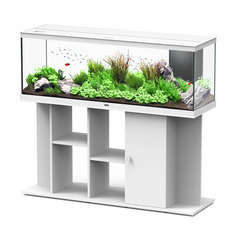 Aquarium avec meuble eau douce Style LED en bois blanc - 296 litres