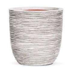 Pot œuf strié, ivoire Ø 35 x H. 34 cm