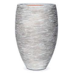 Vase élégant Deluxe strié, ivoire Ø 40 x H. 60 cm