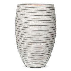 Vase élégant Deluxe bandes, ivoire Ø 40 x H. 60 cm