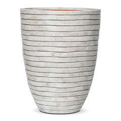 Vase élégant bas bandes, ivoire Ø 46 x H. 58 cm