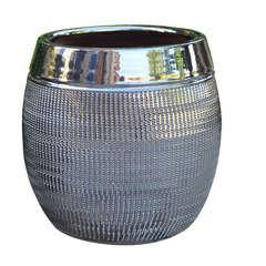 Pot Inca, coloris métal Ø 21 x H. 28 cm