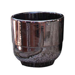 Vase Rebord, coloris métal Ø 21 x H. 19 cm