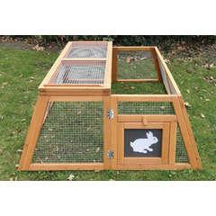 Enclos Trapèze pour rongeur : L120xl100xh42 cm