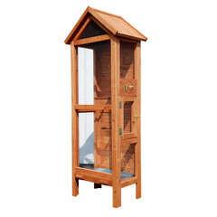 Voliere extérieure Birdy en bois : L60xl60xh160 cm