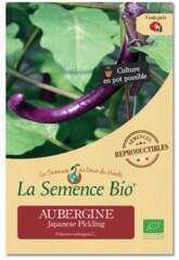 Graines potagères Aubergine Japanese Pickling Bio en sachet