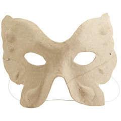 Petit masque 'Papillon', en papier mâché l.14 x H.11 cm