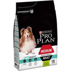 Croquette Pro plan Chien Medium Adult Sensitive Digestion : Agneau 3kg