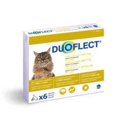 Traitement infestations puces/tiques pour chat 1-5kg : 6 pipettes
