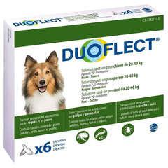 Traitement infestations puces/tiques pour chien 20-40kg : 6 pipettes