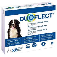 Traitement infestations puces/tiques pour chien 40-60kg : 6 pipettes