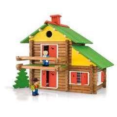 Jeu de construction en bois Mon Chalet en Bois 175 pieces