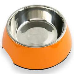 Gamelle et écuelle antidérapante : 350ml Orange