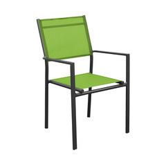 Fauteuils empilables Thema (x2) : Royal gris/vert