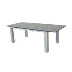 Table repas Elena 180/240 X100 Blanc Taupe