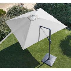 Parasol à mât déporté 300X300 ORIENTABLE mât alumunium - Blanc