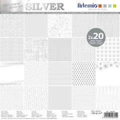 Set de 40 feuilles de papier Artemio - Effet argent