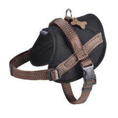 Harnais Easy de la collection Safe, couleur marron et taille XS