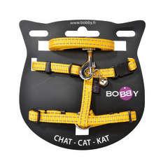 Pack harnais et laisse Safe pour chat de couleur jaune T10